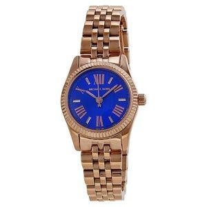 Blue Petite Lexington Dial Rose Gold-tone Watch